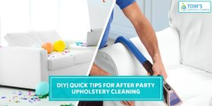 After Party Upholstery Cleaning