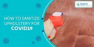 Sanitize Upholstery